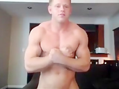 Bisexual muscle all over his body and eats...