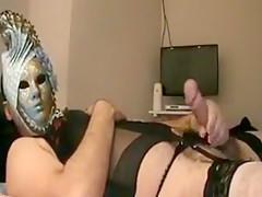 Crossdresser thong and bra for free...