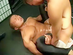 Nasty asian gays work out assholes of each...