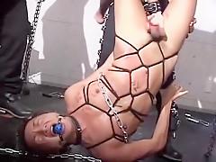 Amazing dudes in crazy spanking bondage jav clip...