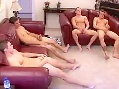 4 guys circle jerk...