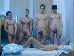 Hungarian gay dorms at lights out...