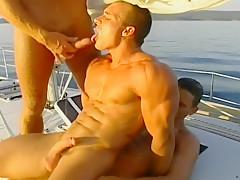 Hardcore deep anal on a yacht...