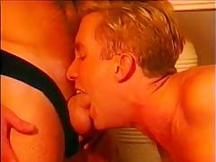 Two gay blondes treat themselves to sausage for...