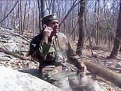 Men masturbating outdoors...