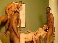 Pornstars aron ridge and black hawk interracial video...