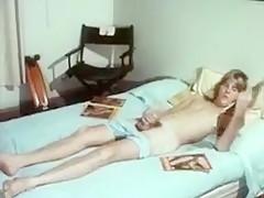 Blond skater boy in vintage solo jackscums...