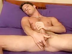 Guy cumming after wanking...