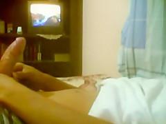 My black guy bedroom night time...