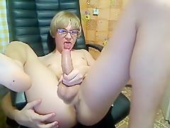 With dildo webcam...
