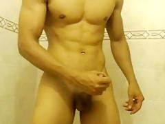 Wanking cock muscle twink...