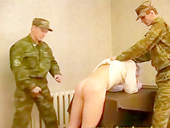 Young rusian spanked and fucked...