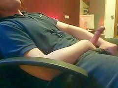 Scally wanking in chair smoke stroke...
