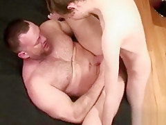 Beefy instructor is topped by hung...