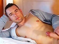 Str8 dude gets gilmed cock in porn...