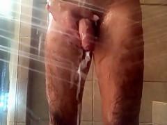 Showering...