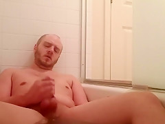 Bath jerking w feet cum...