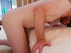 Fuck machine dildo almost too big for to...