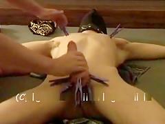 Bondage cumcontrol figging and he cumming hard...