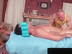 Erotic oily massage makes this gay hungry for...