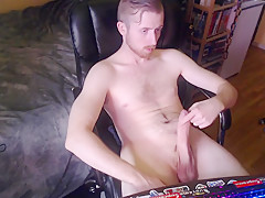 Dick edging off for over a half hour...
