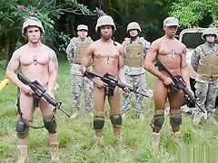 Gangbang army ass jungle pound fest...