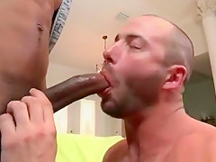 Hairy takes large penetrator...