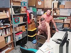 Police guys cocks 2 caucasian male...