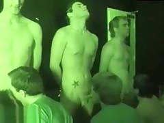 College dudes having fun during time...
