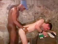 Black guy raw fucks a white guy with...