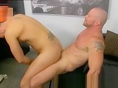 Straight horny office butt banging...