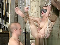 Male on gay foot bondage xxx sling sex...