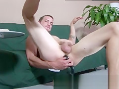 Straight men talked into getting fucked slipping in...