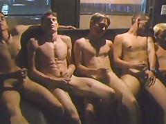 Five gay twinks oral sex orgy...