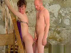 Young slave slapped horny d...