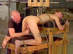 Mature master sebastian kane milks his bound...