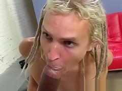 Skater boy fritz gets a black cock in...