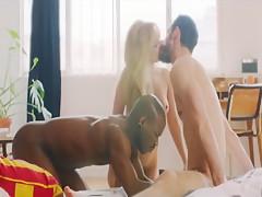 Bisexual trios interracial black...
