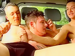 Teen with hairy picking up a bottom to...