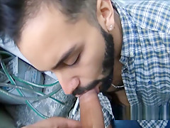 Hairy straight bearded latin stud cock before getting...