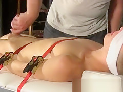 Porn self hanging cocks wanked and...