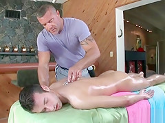 Stud getting his cock oiled and massaged part3...