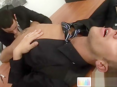 Horny office during job interview...