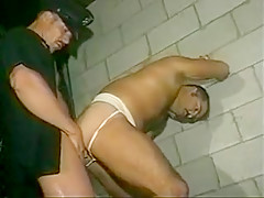 Cop punishes a criminal...