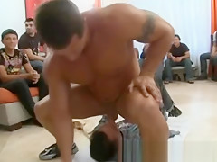 Cock at male strip orgy...