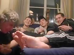Worshiped his masters feet and sock...