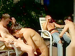 Gay male escort porn 4 way smoke orgy...