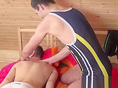Dudes massaging and sucking their pulsating dicks...