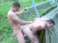 Outdoor two hot studs...