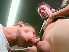 Sucking on knees...